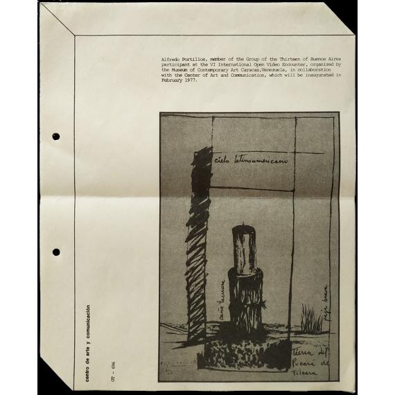 Alfredo Portillos - VI International Open Video Encounter. Museum of Contemporary Art, Caracas, February 1977