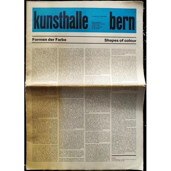 Kunsthalle Bern, 14.- April bis 21. Mai 1967: Formen der Farbe - Shapes of colour