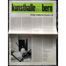 Kunsthalle Bern, 4.-22. Februar und 25. Februar-2. April 1967: Junge englische Kunst I+II
