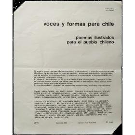"""CAyC - """"Voces y formas para Chile. Poemas ilustrados para el pueblo chileno"""" (1973)"""
