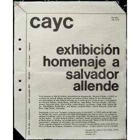 """CAyC - """"Exhibición homenaje a Salvador Allende"""" (1973)"""