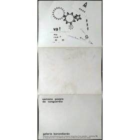 Semana Poesía de Vanguardia. Galería Barandiarán, San Sebastián, septiembre 1966