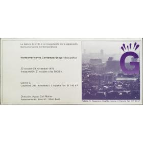 Norteamericanos Contemporáneos - Obra gráfica. Galería G, Barcelona, 22 octubre-29 noviembre 1975