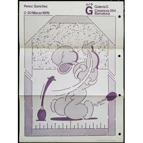 Perez Sanchez. Galería G, Barcelona, 2-20 marzo 1976