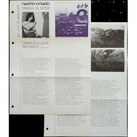 """Nacho Criado - """"Prendas de vestir"""". Galería G, Barcelona del 4 al 13 diciembre, 1975"""