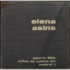 Elena Asins. Galería SEN, Madrid,  junio 1975