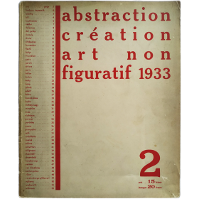 Abstraction Création Art Non Figuratif 1933. Cahier n° 2
