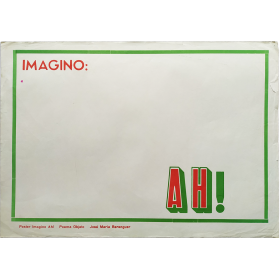 Poster Imagino Ah! - Poema Objeto - José María Berenguer