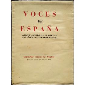 Voces de España (Breve antología de poetas españoles contemporáneos)