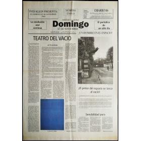 """Yves Klein presenta: El domingo 27 de noviembre 1960 """"La revolución azul continúa. El periódico de un sólo día"""""""