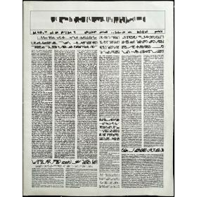 Mirtha Dermisache - Diario Nº 1. Año 1. Quinta Edición. Buenos Aires, 1995