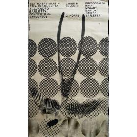 Alejandro Barletta Concierto de bandoneón. Teatro San Martín, [Buenos Aires] 5 de julio [1965]