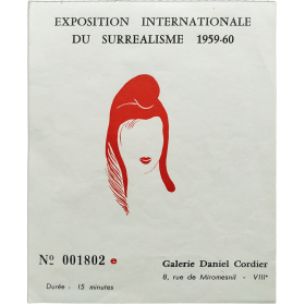 """Exposition Internationale du Surréalisme 1956-60 [""""Eros""""]. Galerie Daniel Cordier, [Paris], [Diciembre 1959-Febrero 1960]"""
