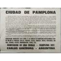 """Carlos Ginzburg - Ciudad de Pamplona: """"Denotación de una ciudad"""", Pamplona 1972"""