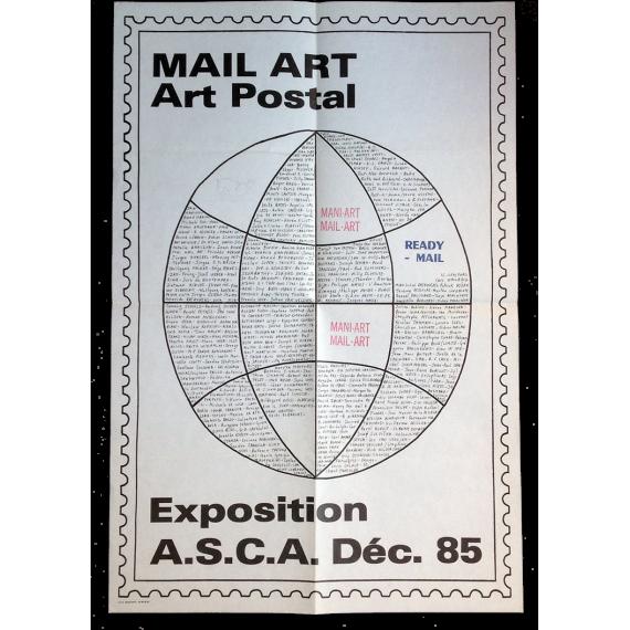 Mail Art - Art Postal. Exposition A.S.C.A. Déc. 85
