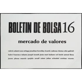 Boletín de bolsa 16, mercado de valores - José Antonio Sarmiento, 1991