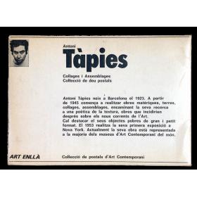 Antoni Tàpies. Collages i Assemblages. Col·lecció de deu postals