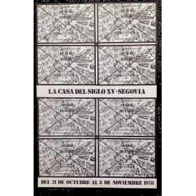 Negro sobre blanco. Arte correo - Muestra internacional. La Casa del Siglo XV, Segovia, 21 octubre - 8 noviembre 1978