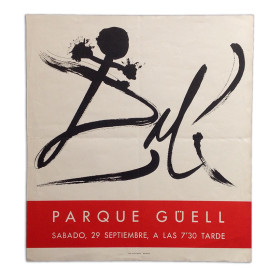Dalí. Parque Güell, [Barcelona], sábado, 29 septiembre, a las 7'30 tarde